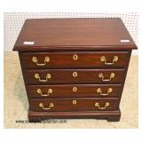"SOLID Mahogany ""Henkel Harris Furniture"" 4 Drawer Bedside Stand   Auction Estimate $200-$400 – Locat"