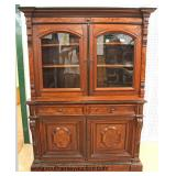 ANTIQUE 2 Piece Walnut Butlers Bookcase   Auction Estimate $300-$600 – Located Inside