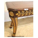 Leather Top Decorator French Empire Style Console in the Manner of Maitland Smith Furniture   Auctio