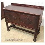 Depression Walnut 2 Door Server in the Original Finish   Auction Estimate $100-$300 – Located Inside