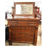 ANTIQUE Cajun Walnut Empire Chest with Mirror   Auction Estimate $200-$400 – Located Inside