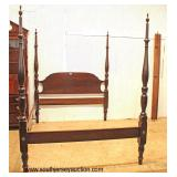 "QUALITY ""Cara-Craft Furniture"" SOLID Mahogany 4 Poster Queen Bed   Auction Estimate $300-$600 – Loca"