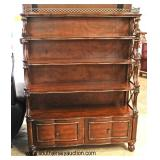 SOLID Mahogany 4 Tier Étagère/Bookcase in the Manner of Maitland Smith Furniture   Auction Estimate
