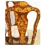 9 Piece Inlaid Oval Dining Room Table with 8 Inlaid Chairs   Auction Estimate $400-$800 – Located In