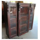 ANTIQUE Mahogany Carved Victorian Style 3 Door Bookcase  Auction Estimate $200-$400 – Located Dock