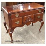 SOLID Mahogany Queen Anne Shell Carved 2 Drawer Low Boy  Auction Estimate $100-$300 – Located Insid