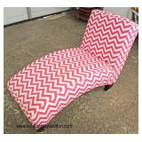 Decorator Upholstered Chaise Lounge  Auction Estimate $100-$300 – Located Inside