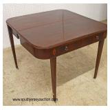 Mahogany Inlaid Extension Table  Auction Estimate $100-$300 – Located Inside