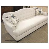 "NEW 3 Piece ""Serta"" Upholstered Button Tufted Decorator Sofa, Loveseat and Chaise with Decorator Pil"