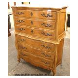 French Provincial Mahogany High Chest and Low Chest with Mirror  Auction Estimate $300-$600 – Locat