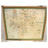 Framed Map  Auction Estimate $20-$100 – Located Glassware