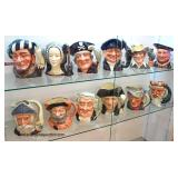 Collection of 12 Royal Daulton England Toby Mugs