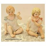 "Porcelain ""Lefton Kw858"" Piano Babies"