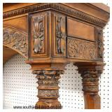 Contemporary Carved Open Mahogany Display Cabinet