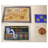 1943 Steel Cents, Theodore Roosevelt Commemorative Coin, World War II Penny Collection, Presidents o
