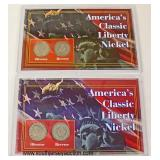 (2) America's Classic Liberty Nickel