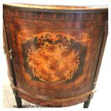 "Contemporary ""Decorative Crafts Inc. Hand Crafted Imports"" Decorator 2 Door Banded and Inlaid Demilu"