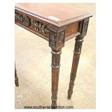Mahogany Carved Decorator Console Table