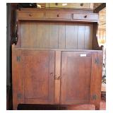 ANTIQUE 2 Door 3 Drawer Country Pine Dry Sink