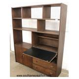 Mid Century Modern Danish Walnut Wall Unit Desk  Auction Estimate $400-$800 – Located Inside