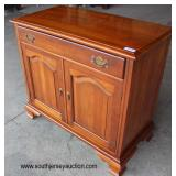 SOLID Cherry 1 Drawer 2 Door Bracket Foot Server  Auction Estimate $ 100-300 – Located Inside