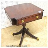 "Mahogany ""Century Furniture"" One Drawer Lamp Table  Auction Estimate $200-$400 – Located Inside"
