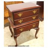 "Mahogany ""Broyhill Furniture"" Queen Anne 3 Drawer Silver Chest  Auction Estimate $100-$300 – Located"