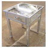 Modern Design All Mirrored One Drawer Decorator Lamp Table  Auction Estimate $100-$300 – Located Ins