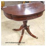 Mahogany Carved Console Table  Auction Estimate $100-$200 – Located Inside