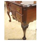 SOLID Chippendale Style Mahogany Ball and Claw Carved 4 Drawer Shell Carved Low Boy  Auction Estimat
