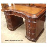"SOLID Mahogany ""Hooker Furniture"" Leather Top 9 Drawer Desk  Auction Estimate $200-$400 – Located In"