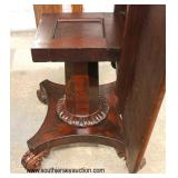 ANTIQUE Empire Carved Foot Burl Mahogany Tilt Top Breakfast Table  Auction Estimate $200-$400 – Loca