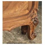 ANTIQUE Burl Walnut Carved French Full Size Bed with Carved Rails  Auction Estimate $200-$400 – Loca