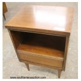 Mid Century Modern Danish Walnut Night Stand  Auction Estimate $50-$100 – Located Dock