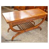 Mahogany Sliding Top Banded Server  Auction Estimate $100-$200 – Located Inside
