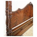 NICE Burl Mahogany Carved King Size Poster Bed  Auction Estimate $300-$600 – Located Inside