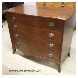 "Mahogany ""Statton Furniture"" 4 Drawer Chest  Auction Estimate $200-$400 – Located Inside"