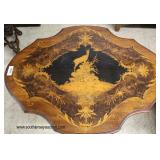 ANTIQUE Highly Inlaid Rosewood Mahogany and Satinwood Black Forest Parlor Table  Auction Estimate $