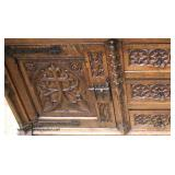 ANTIQUE Oak Highly Carved Renaissance Revival  2 Door 3 Drawer Panel Side Buffet  Auction Estimate