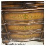 Paint Decorated Walnut Step Back High Chest  Auction Estimate $200-$400 – Located Inside