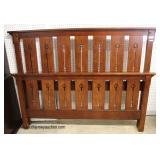 "SOLID Cherry ""American Revival by Drexel Furniture"" Arts and Craft Mission Style Queen Bed  Auction"