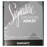 "NEW ""Signature Design by Ashley Furniture"" 2 Piece Upholstered Sectional Sofa Chaise  Auction Estim"