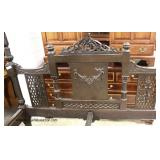 ANTIQUE Walnut Highly Carved Full Size Day Bed  Auction Estimate $300-$600 – Located Inside