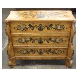 Decorator 3 Drawer Paint Decorated Carved Chest  Auction Estimate $300-$600 – Located Inside
