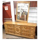 "Modern Design ""Thomasville Furniture"" Low Chest with Mirror and Armoire with Fitted Interior  Aucti"