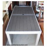 NEW All Weather Wicker Patio Table  Auction Estimate $100-$300 – Located Dock