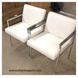 PAIR of Modern Design Leather and Chrome Arm Chairs  Auction Estimate $200-$400 – Located Inside