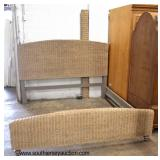 NEW Wicker Style King Size Bed  Auction Estimate $200-$400 – Located Inside