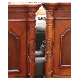 5 Piece Mahogany Contemporary Inlaid Carved Bedroom Set with 2 Twin Headboards  Auction Estimate $3