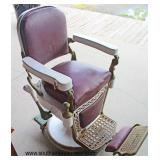 ANTIQUE Porcelain Barber Shop Chair by  Auction Estimate $200-$600 – Located Dock